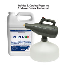 5L Cordless Fogger and 1 Gal Purerox Disinfectant Kit